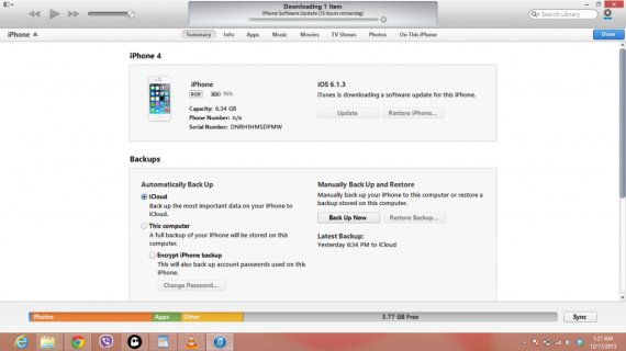 IOS7 by Itunes