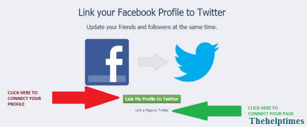 How to Link/Connect Facebook Account With Twitter Account/Profile