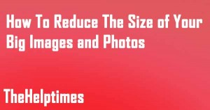 reduce the image file size
